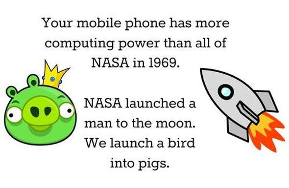 nasa smartphone angry birds