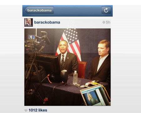 obamas first instagram post