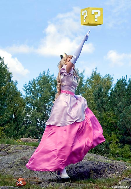 princess peach cosplay costume 4