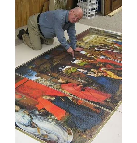 Roger Mckinstry Completes A 18 000 Piece Puzzle In 2 Years
