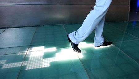 Sensacell S Floor Displays Led Footprints