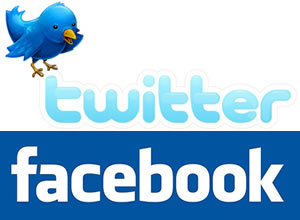twitter facebook logo