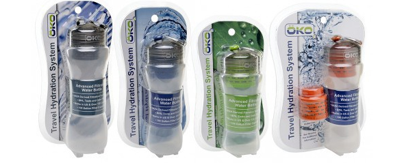 oko water bottle OKO filtration bottle can convert coke into crystal clear liquid