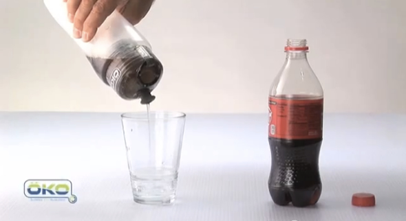 oko OKO filtration bottle can convert coke into crystal clear liquid