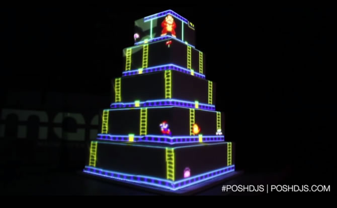 Behold The Coolest Wedding Cake Ever That Plays Classic Games Onto - Coolest Wedding Cakes
