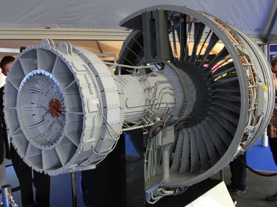 Fully Functional Rolls Royce Jet Engine Built Out Of