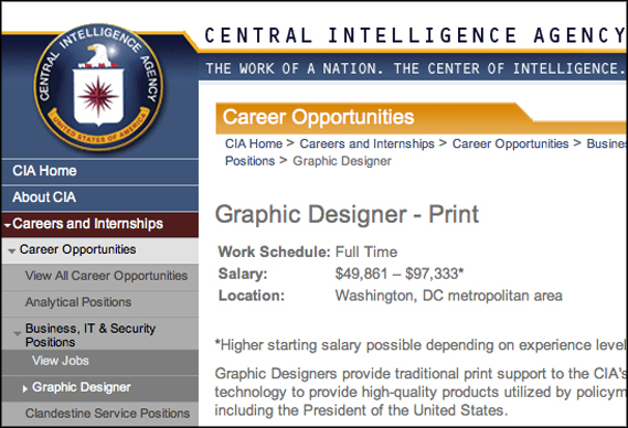 CIA needs a secret agent with excellent Photoshop skills |
