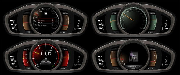 Volvo's new digital dashboard enables toggling between three different settings