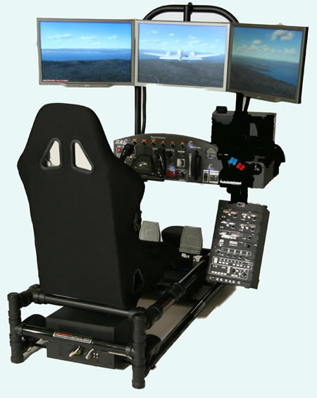 FAA approved Flight Simulator powered by some serious hardware |