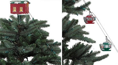 Christmas tree cable cars make trains a thing of the past