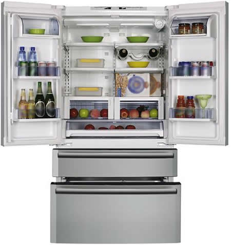 Cda Pc 85 Is An American Style Side By Fridge With Pull Out Freezer Drawers