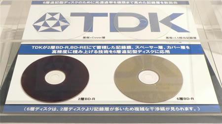 TDK 200GB and Mini Blu-Ray discs |