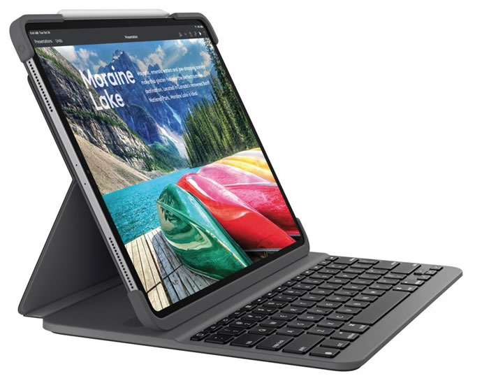 Logitech SLIM FOLIO PRO All-in-One Case for iPad Pro Offers Laptop